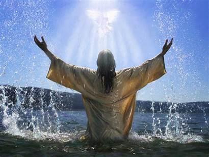 Baptism Jesus Water Background Backgrounds Powerpoint Ebibleteacher