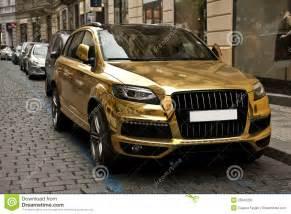 Metallic Gold Car