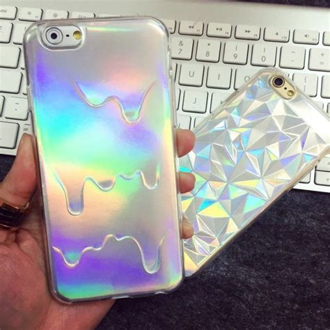Silver Laser Reflective Holographic Iphone 5s, 6 ,6 Plus case