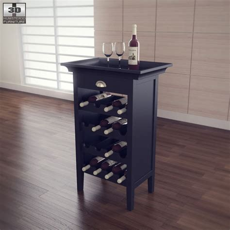black wine cabinet black wine cabinet powell furniture by humster3d 3docean