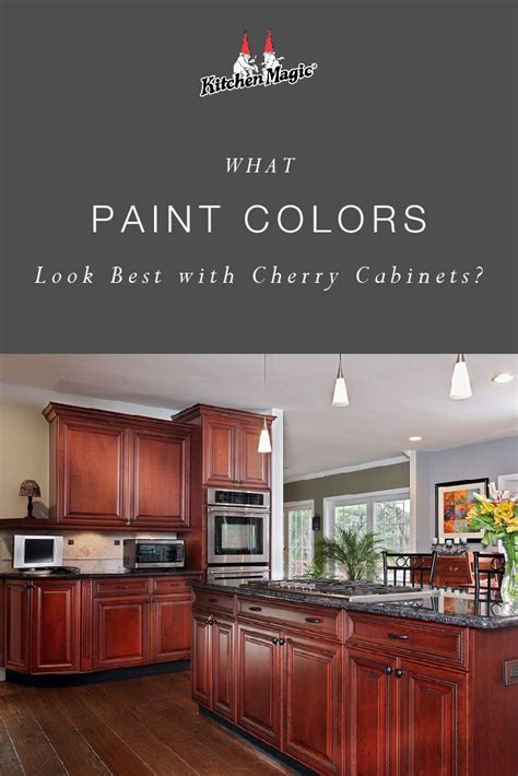 paint colors    cherry cabinets