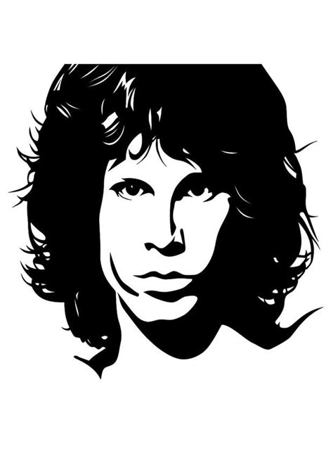 coloring page jim morrison  printable coloring pages