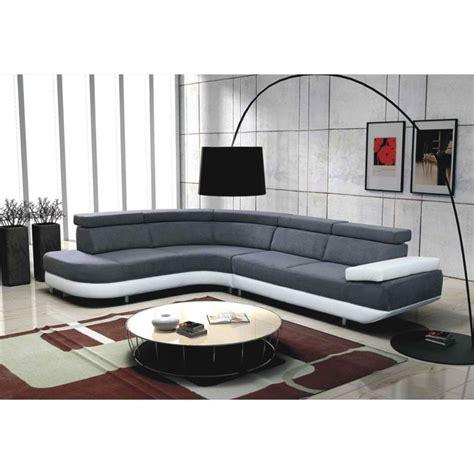 canapé d angle but gris et blanc canapé d 39 angle gauche design zeta gris et blanc achat