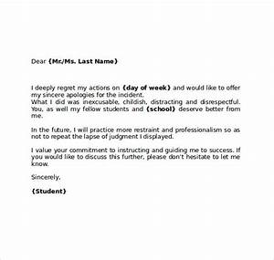 Apology Letter to   8+ Download Free Doents in PDF , Word