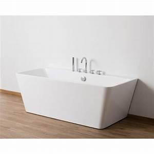 Baignoire Ilot Contre Mur : baignoire lot de 170x75x85 cm contre un mur myvato zb82213 ~ Nature-et-papiers.com Idées de Décoration