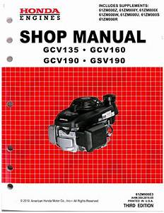 Honda Gcv160 Repair Manual