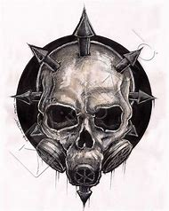 Skull Gas Mask Tattoo Drawing