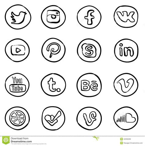 social media icons editorial photo image of