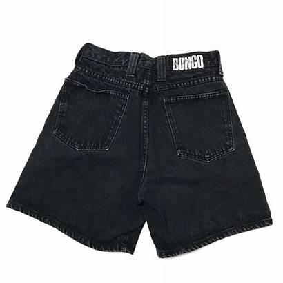 Bongo Jean Shorts Rise Denim Waisted Hem