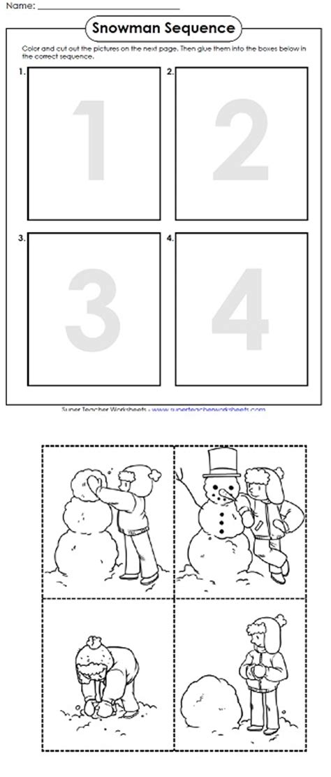 printable worksheet  winter