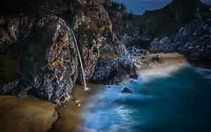 Wallpapers, California, Usa, Big, Sur, Crag, Nature, Waterfalls, Coast
