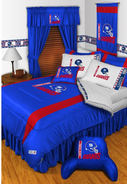 ideas for kitchen decorating themes nfl new york giants bedding and room decorations modern