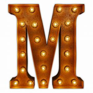 letter light m vintage letter lights uk alphabet light With letter m light