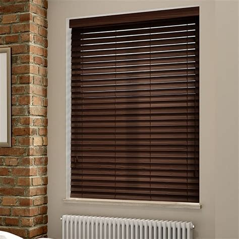 Wooden Blinds by Rosewood Grain Faux Wood Blind 50mm Slat