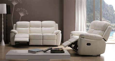 canap de relaxation ensemble canapé de relaxation 2 et 3 places manuel cuir