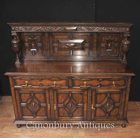 kitchen server furniture antique oak jacobean sideboard server buffet kitchen furniture