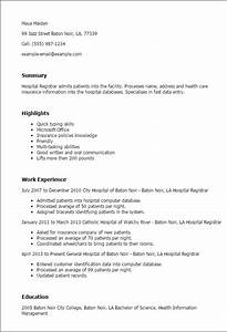 hospital registrar resume template best design tips With how to write a cover letter for a hospital job