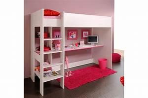 Lit Tv Intégré : lit mezzanine et bureau int gr ~ Teatrodelosmanantiales.com Idées de Décoration