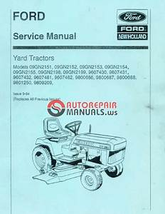 Ford Yt16 Service Manual