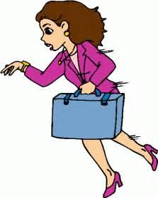 Businesswoman Running Clip Art