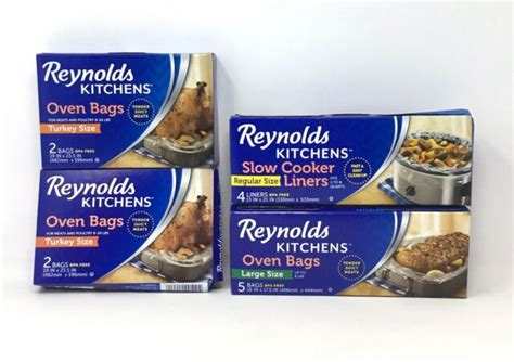 reynolds oven turkey bags ct liners cooker kitchens slow boxes