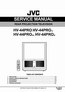 Jvc Hv44pro Projection Tv Sm Service Manual Download