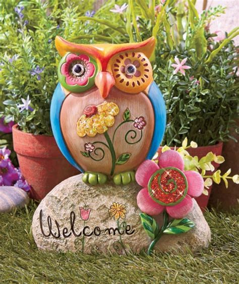 colorful owl ornament  outdoors owl delights