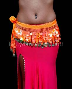 Yellow belly dance belt - BellydanceDiscount.com