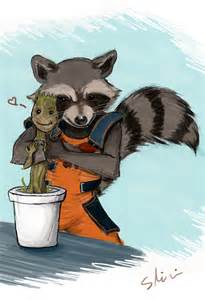Groot Rocket Raccoon and Baby