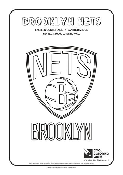 cool coloring pages brooklyn nets nba basketball teams logos coloring pages cool coloring
