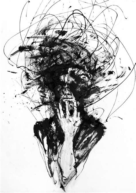 visually striking black  white portraits created