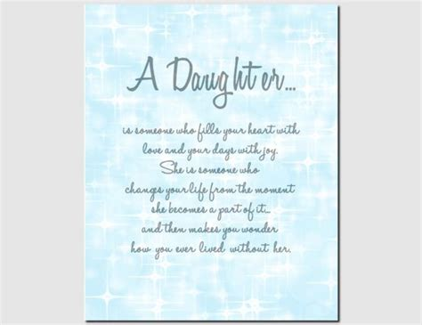 daughter print gift  daughter wedding birthday