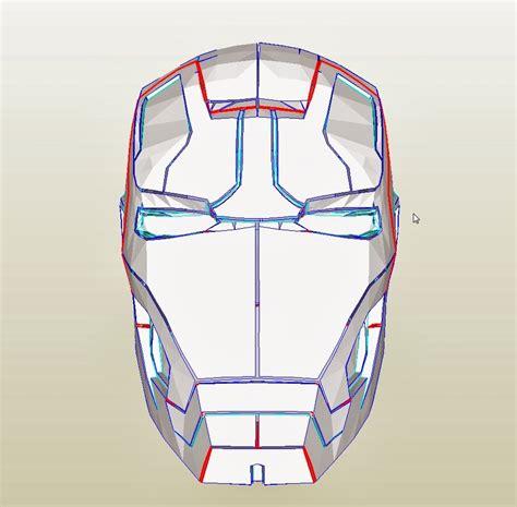 Ironman Mask Template by Dali Lomo Iron 42 Costume Helmet Diy Cardboard