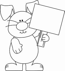 Easter Bunny Clip Art Black and White – Cliparts