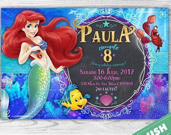 21 best invitaciones de sirenita para cumplea 241 os on ariel mermaid birthday