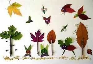 Aus Blättern Basteln : naturbasteleien meine enkel und ich ~ Lizthompson.info Haus und Dekorationen