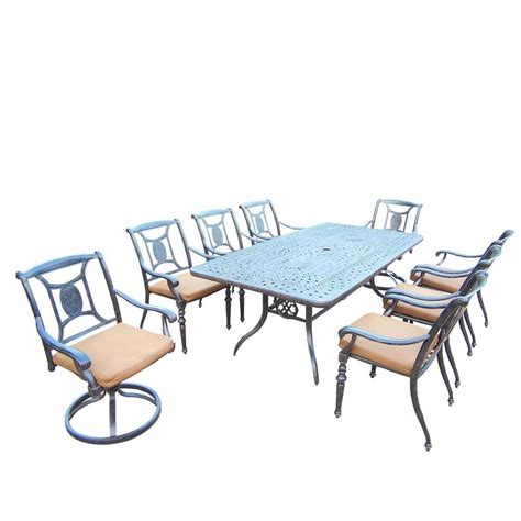 oakland living belmont 9 patio dining set with