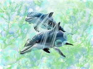 Dolphins Underwater Drawings