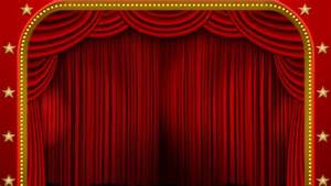 Red Stage Curtain. High Quality Computer Animation. Stock ...