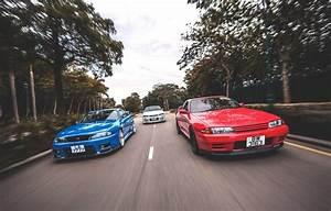 Wallpaper nissan, turbo, red, white, skyline, japan, blue