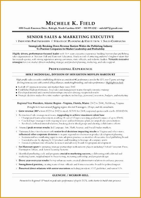 Executive Resume Sles Free by 5 Senior Sales Executive Resume Free Sles Exles