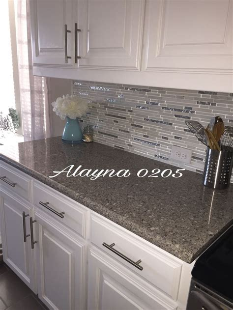 Alpina white quartz countertop. MS Cristallo interlocking