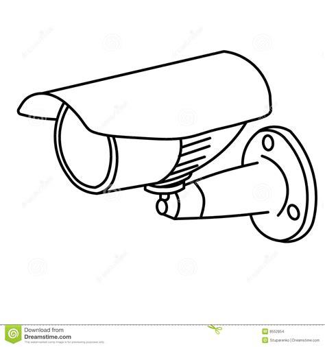 security camera stock illustration illustration