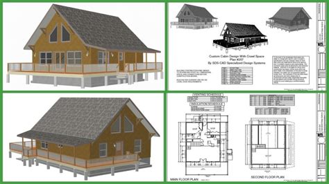 small log cabin floor plans with loft cabin plan h257 1000 sq ft custom cabin design with crawl