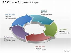 3d Circular Arrows Process Smartart 5 Stages Ppt Slides
