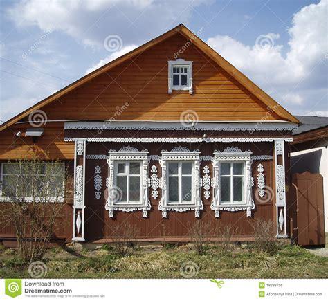 maison en bois russie image libre de droits image 18288756