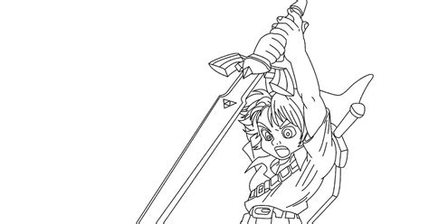 Legend Of Zelda Coloring Page Arenda Stroy