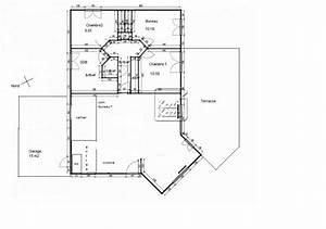 plan maison 4 chambres 130m2 With plan maison 110m2 plain pied