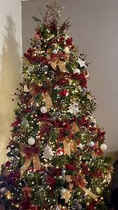 Farmhouse, Country, Style, Woodland, Traditional, Christmas, Tree, Tartan, Pl, U2026