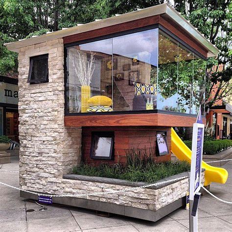 Backyard Dollhouse by A Modern Backyard Marvel For The Children Cubby Houses
